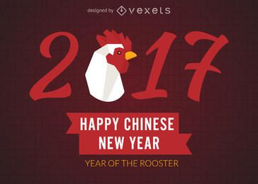 2017 pôster do ano novo chinês