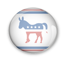 Distintivo de voto político dos democratas dos EUA