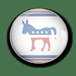 Pin del voto político de los demócratas de Estados Unidos