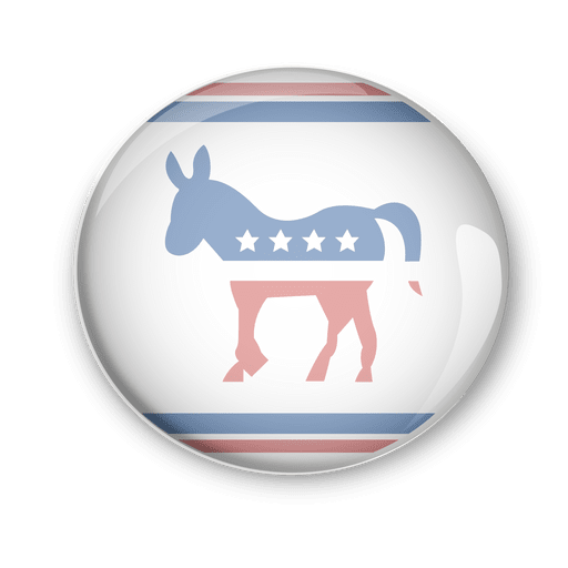Pin del voto político de los demócratas de Estados Unidos Transparent PNG