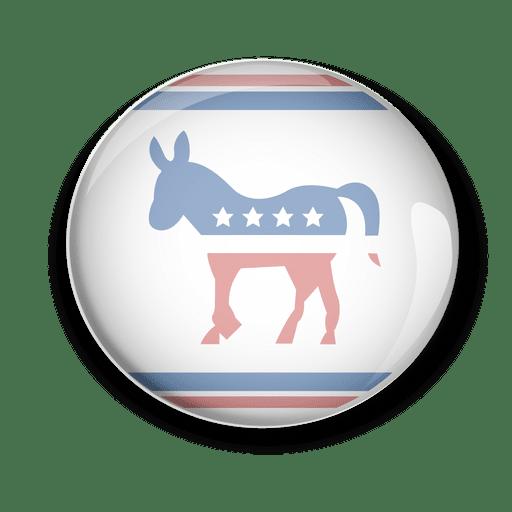 Usa democrats politic vote pin Transparent PNG