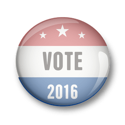 Voto de pin político dos EUA