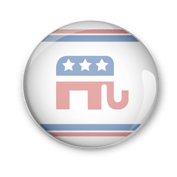 Estados Unidos republicanos política pin vote