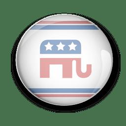 Republicanos de los eeuu voto político pin