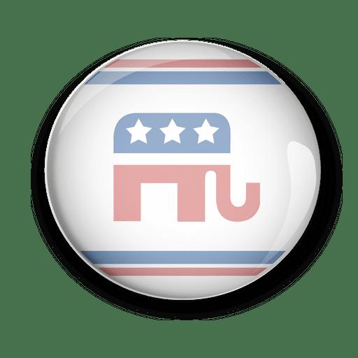 EUA republicanos políticos pin votar Transparent PNG