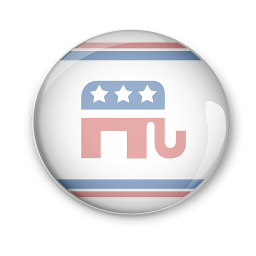 Usa republicans politic pin vote Transparent PNG