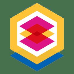 Logotipo geométrico abstrato