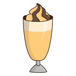 Caramel milkshake dessert