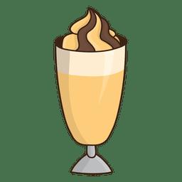 Sobremesa de milkshake de caramelo