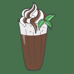 Sobremesa de milkshake de chocolate