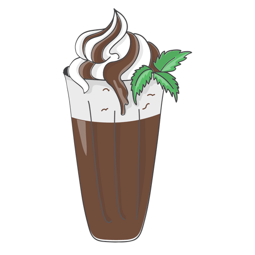 Chocolate milkshake dessert Transparent PNG