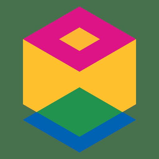Cube geometric abstract logo