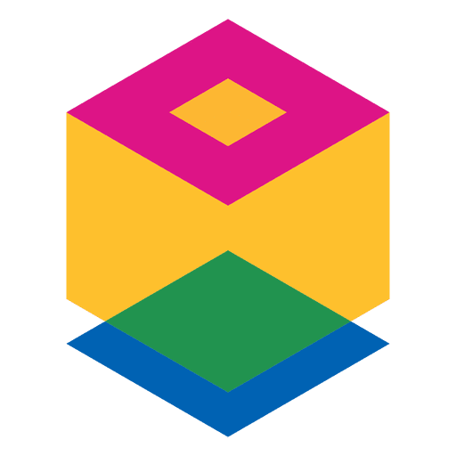 Logotipo abstracto geométrico cubo Transparent PNG