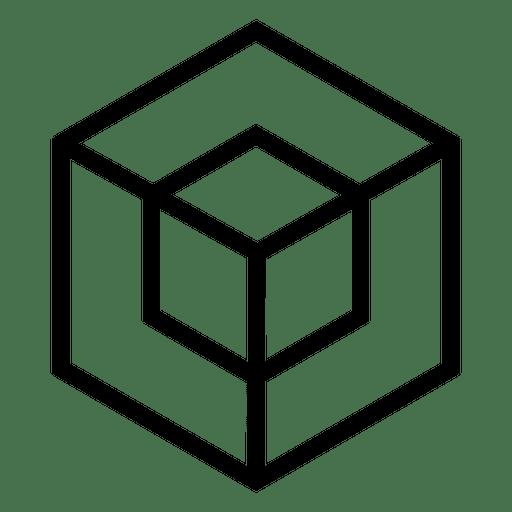 Cubo logo geométrico poligonal. Transparent PNG