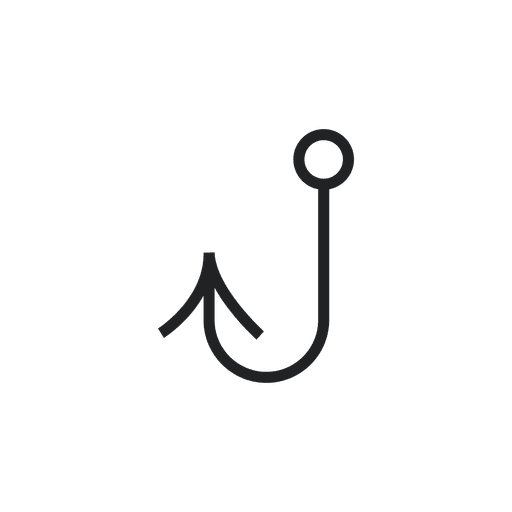 Fish hook fishing icon Transparent PNG