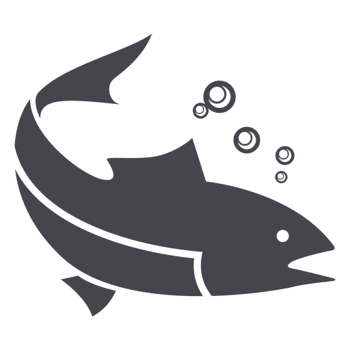 Fishing fish animal silhouette Transparent PNG