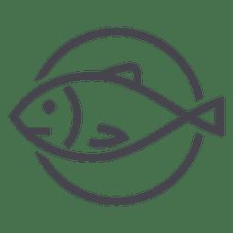 Logotipo de ícone animal peixe pesca