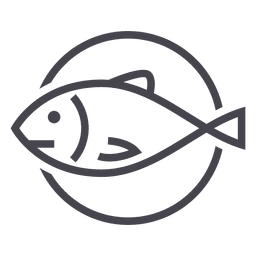 Pescando el icono de los animales de pescado logo