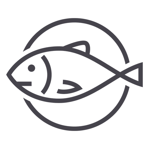 Fishing fish animal icon logo Transparent PNG