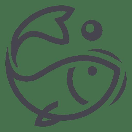 Ícono del logotipo de pesca de peces Transparent PNG