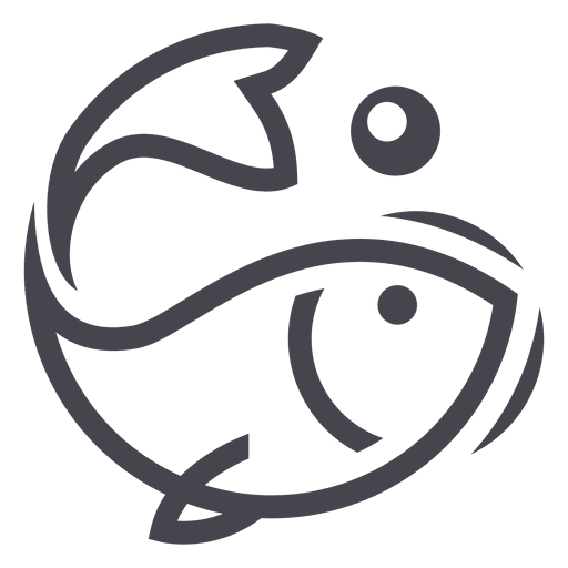 Fishing fish logo icon Transparent PNG