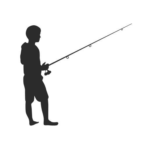 kid boy fishing png
