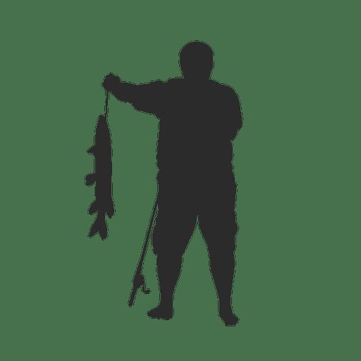 Pesca pescador silueta
