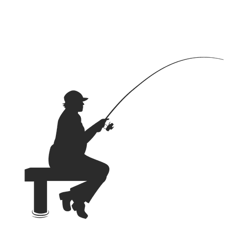 Fishing fisherman on dock Transparent PNG