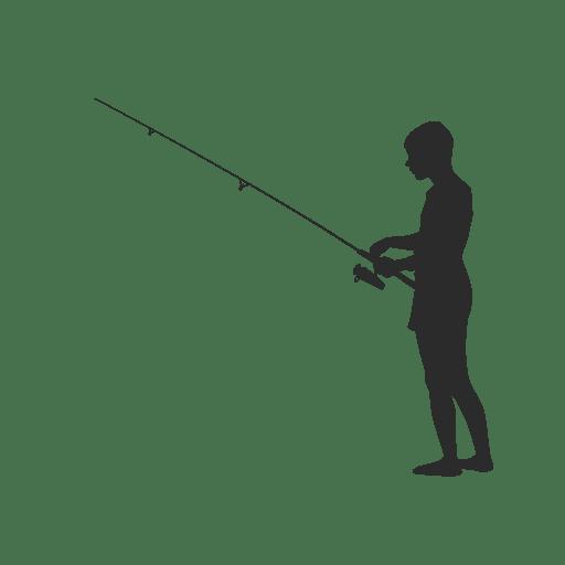 Fishing fisherman silhouette png