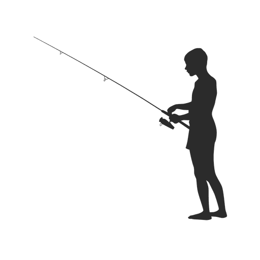 Fisherman silhouette png - photo#8