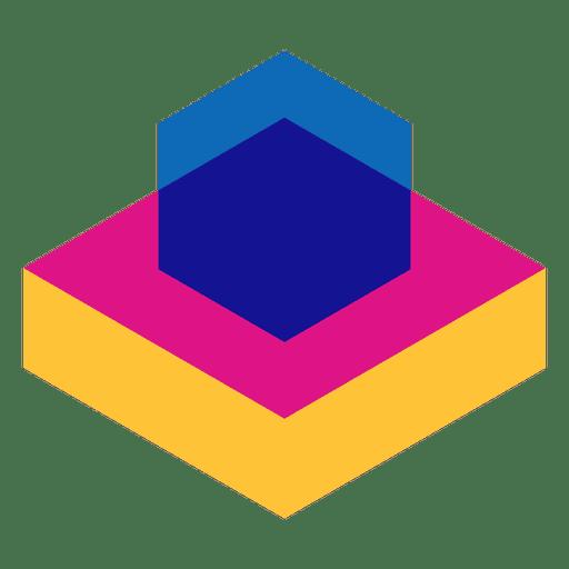 Flat geometric abstract logo