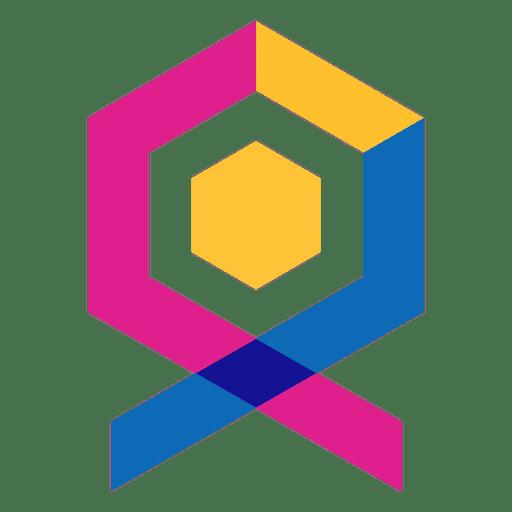 Geometric abstract logo label