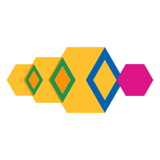 Logotipo abstrato geométrico Transparent PNG