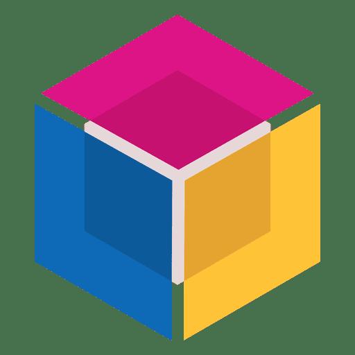Cubo de logotipo abstracto geométrico Transparent PNG