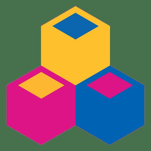 Geometric podium cube abstract logo