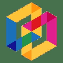 Logotipo geométrico abstracto