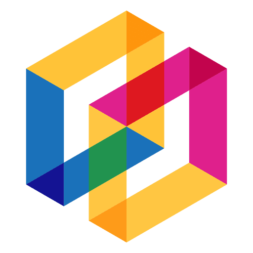 Geometrisches Logo abstrakt Transparent PNG