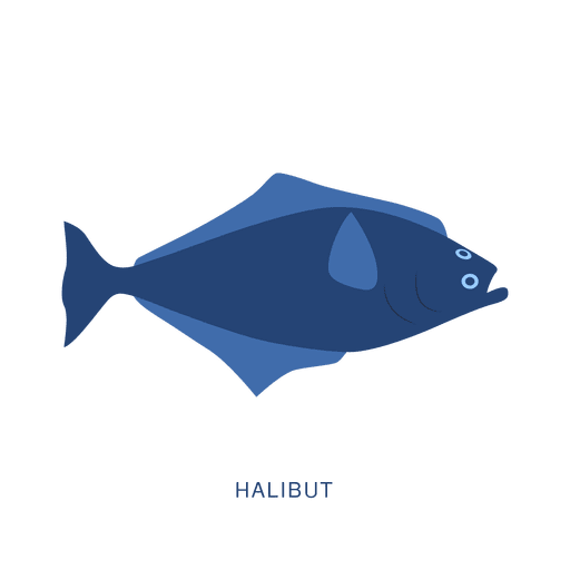 Halibut fish fishing animal Transparent PNG
