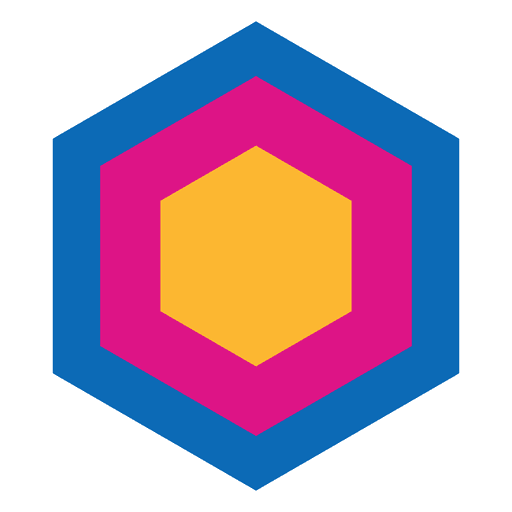 Hexagon Geometric Abstract Icon Transparent PNG