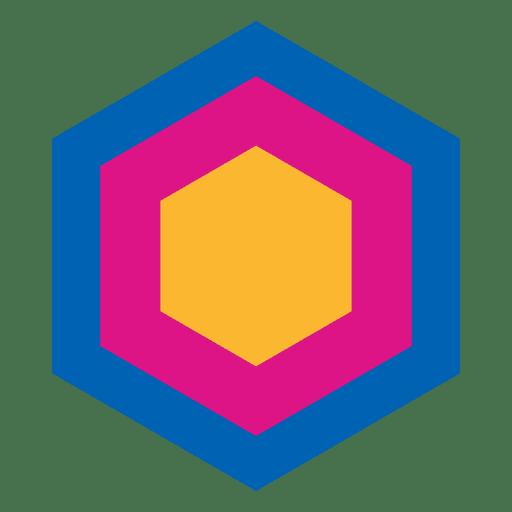 Hexagon Geometric Abstract Icon