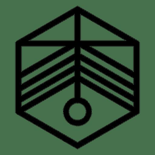 Hexagon logo geometric polygonal
