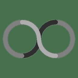 Flat infinity logo infinite