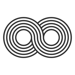 Striped infinity logo