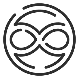 Infinity symbol in circle logo infinite