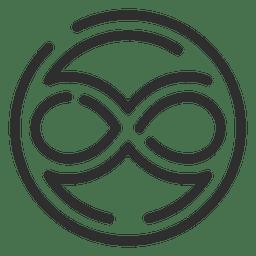 Símbolo del infinito en el logo del círculo infinito.