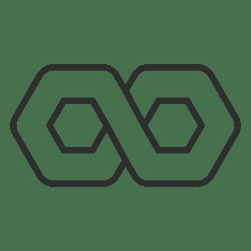 Polygonal Hexagon Logo: Infinity Logo Infinite Thick Stroke
