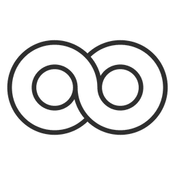 Circle infinity logo template infinite