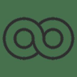 Círculo infinito plantilla de logotipo infinito