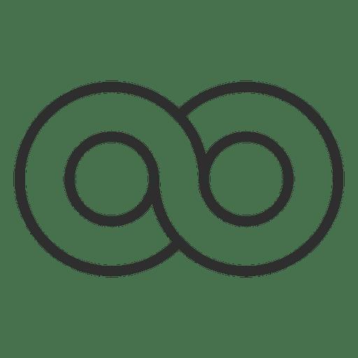 Círculo infinito plantilla de logotipo infinito Transparent PNG