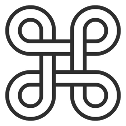 Four infinity symbols logo infinite